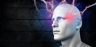 Composite image of lightning bolt Royalty Free Stock Image