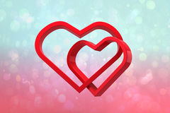 Composite image of linking hearts Royalty Free Stock Photography