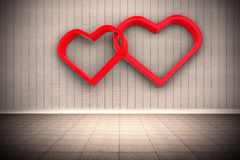 Composite image of linking hearts Stock Photography