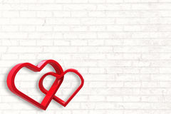 Composite image of linking hearts Royalty Free Stock Image