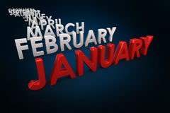 Composite image of list of months Royalty Free Stock Images