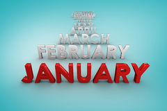 Composite image of list of months Stock Photography