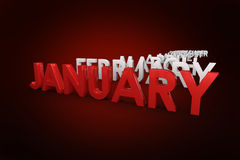 Composite image of list of months Stock Images