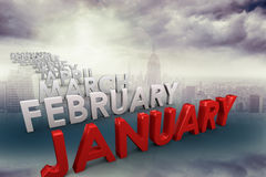 Composite image of list of months Royalty Free Stock Photos