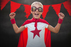 Composite image of little boy dressed as superman Royalty Free Stock Photos