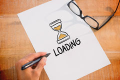 Composite image of loading doodle Stock Photo