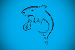 Composite image of loan shark doodle Stock Photo
