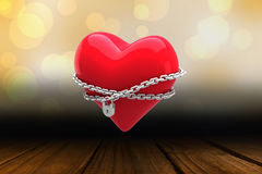 Composite image of locked heart Royalty Free Stock Photography