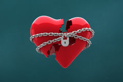 Composite image of locked heart Stock Photography