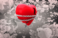 Composite image of locked heart 3d Royalty Free Stock Image