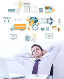 Composite image of logistics graphic Royalty Free Stock Image