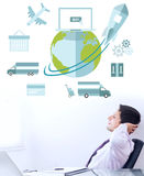 Composite image of logistics graphic Royalty Free Stock Photo