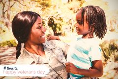 Composite image of logo for veterans day in america hashtag Stock Image