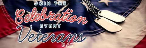 Composite image of logo for veterans day in america Royalty Free Stock Photo
