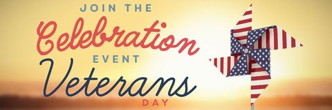 Composite image of logo for veterans day in america Royalty Free Stock Image