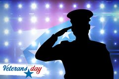 Composite image of logo for veterans day in america Royalty Free Stock Images