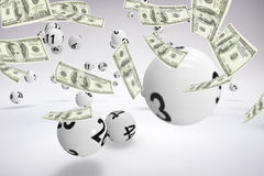 Composite image of a lot of money throwing in the air Royalty Free Stock Images