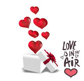 Composite image of love is in the air Royalty Free Stock Photo
