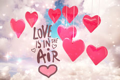 Composite image of love is in the air Royalty Free Stock Photography
