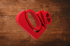 Composite image of love heart Royalty Free Stock Photography