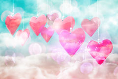 Composite image of love hearts Stock Images