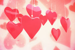 Composite image of love hearts Royalty Free Stock Images