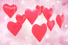 Composite image of love hearts Royalty Free Stock Photo
