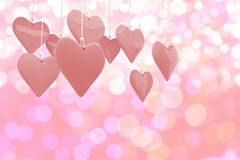 Composite image of love hearts 3d Royalty Free Stock Photography