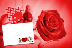 Composite image of love with lock and key Royalty Free Stock Photo
