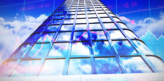 Composite image of low angle view of office building Stock Photo