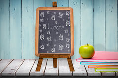 Composite image of lunch doodle Royalty Free Stock Image