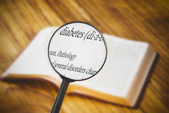 Composite image of magnifying glass Royalty Free Stock Images