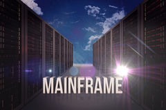 Composite image of mainframe Stock Photo