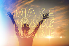 Composite image of make impossible possible Stock Image