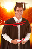 Composite image of man graduating from university Royalty Free Stock Photography