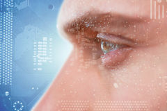 Composite image of man with green eyes Stock Photography