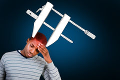 Composite image of man with headache Royalty Free Stock Photography
