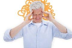 Composite image of man with headache Stock Photos