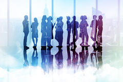 Composite image of many business people standing in a line Stock Image