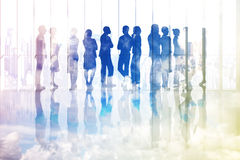 Composite image of many business people standing in a line Royalty Free Stock Images