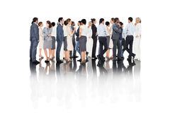 Composite image of many business people standing in a line Royalty Free Stock Photography