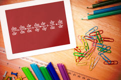 Composite image of math equation Stock Image