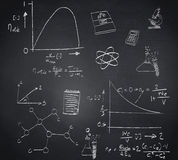 Composite image of math and science doodles Stock Image