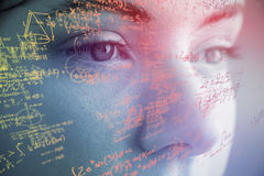 Composite image of mathematical complicated formulas Stock Image