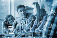 Composite image of maths Stock Photo