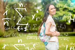 Composite image of maths equations Royalty Free Stock Photography