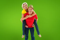 Composite image of mature couple joking about together Stock Photos
