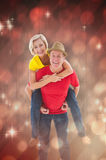 Composite image of mature couple joking about together Royalty Free Stock Photos