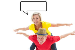 Composite image of mature couple joking about together Stock Images