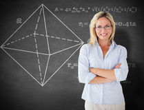 Composite image of mature student smiling royalty free stock image